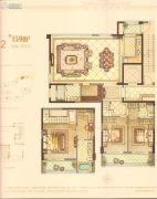 华鸿万墅4室2厅2卫159平方米户型图