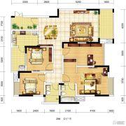 琥珀・东岸4室2厅2卫0平方米户型图