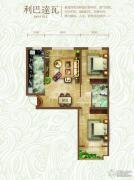绿朗时光2室2厅1卫92平方米户型图