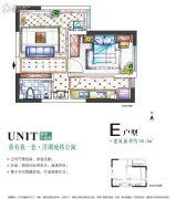 合能洋湖公馆二期1室1厅1卫56平方米户型图
