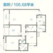 豪情骏座2室2厅2卫106--107平方米户型图