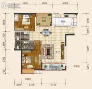 东星・熙城2室2厅2卫96--97平方米户型图