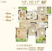 御翠园4室2厅2卫189平方米户型图