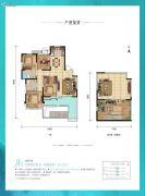 合能公馆4室2厅2卫0平方米户型图