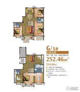 富尔沃财富广场4室5厅3卫252平方米户型图