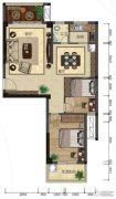 悦泰春天2室2厅1卫82平方米户型图