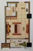 天中国际1室1厅1卫43平方米户型图