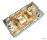 证大大拇指广场1室1厅1卫43平方米户型图