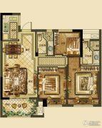德信・湖滨1号3室2厅2卫88平方米户型图