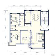 南辰雅园3室2厅2卫0平方米户型图