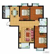 万国园奥洲领域3室2厅2卫139平方米户型图