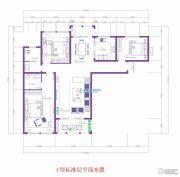 逸品蓝山3室2厅2卫143平方米户型图