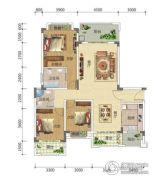 宏信依山郡3期3室2厅2卫130平方米户型图