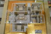 宝丽・盛世阳光3室2厅1卫108平方米户型图