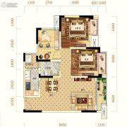 中亿阳明山水2室2厅1卫79平方米户型图