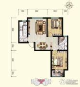 明瀚花香城2室2厅1卫89平方米户型图