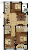 景瑞阳光城法兰公园3室2厅1卫93平方米户型图