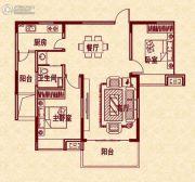 新华茗苑2室2厅1卫91平方米户型图