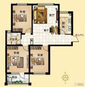 鼓浪屿小镇3室2厅1卫108平方米户型图