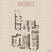 旭辉铂悦秦淮3室2厅2卫123平方米户型图
