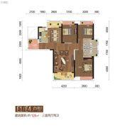 城市中央广场3室2厅2卫125平方米户型图