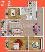 腾瑞・幸福里3室2厅1卫93平方米户型图