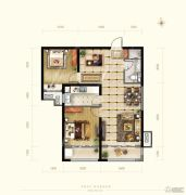 保利花园2室2厅1卫92平方米户型图