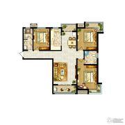 卓达上河原著3室2厅2卫149平方米户型图