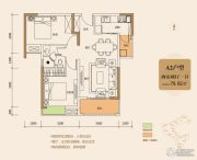 城中金谷2室2厅1卫79平方米户型图