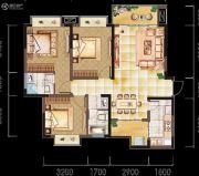 亲亲里3室2厅2卫105平方米户型图