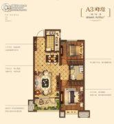 金地悦峰2室2厅1卫88平方米户型图