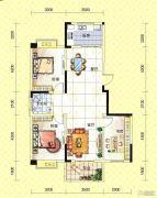 苏通国际新城3室2厅1卫112--117平方米户型图