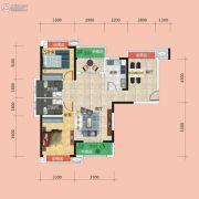 广电兰亭时代4室2厅2卫129平方米户型图