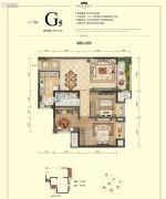 国博城3室2厅1卫72平方米户型图