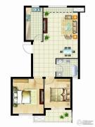 金桥澎湖山庄2室2厅1卫91平方米户型图