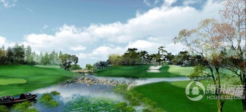 汤泉墅效果图-高尔夫球场