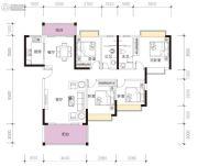 凯景华府4室2厅2卫131平方米户型图