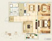 东郦湖2室2厅1卫86平方米户型图