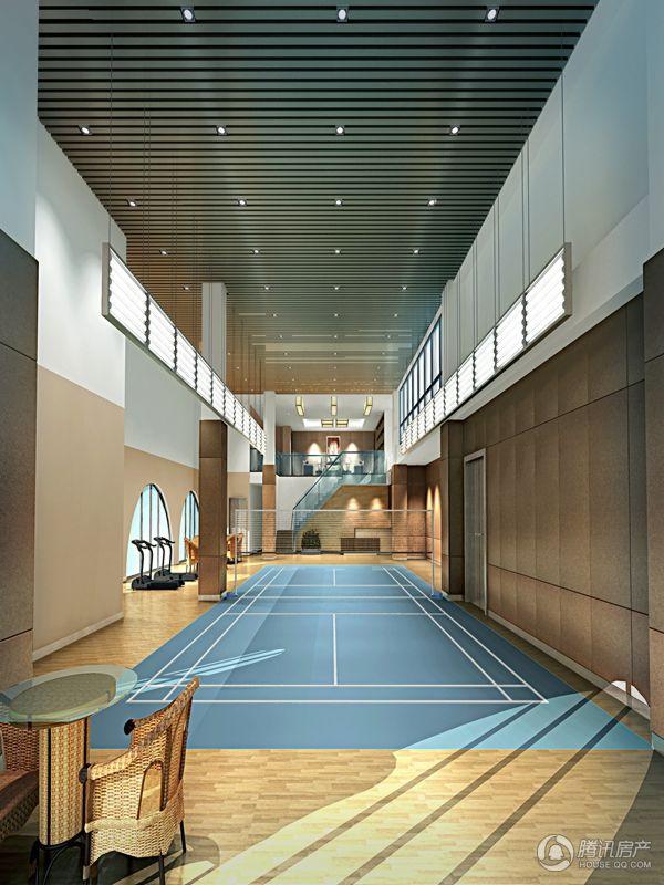 金融国际大厦羽毛球场一层装修效果图