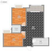 宏运海河湾2室1厅1卫62平方米户型图
