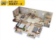 佳龙・大沃城2室2厅1卫85平方米户型图
