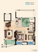 翡丽蓝湾3室2厅1卫88--89平方米户型图