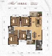天元・美居乐4室2厅4卫148平方米户型图