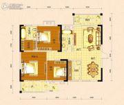 景苑花园3室2厅2卫127平方米户型图