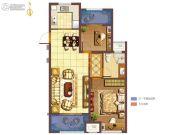 无锡孔雀城2室2厅1卫88平方米户型图