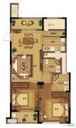 信达翰林兰庭3室2厅2卫89平方米户型图