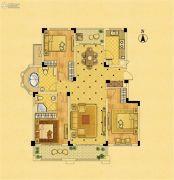 中南锦苑3室2厅2卫131平方米户型图