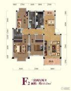 随州金泰国际3室2厅2卫113平方米户型图
