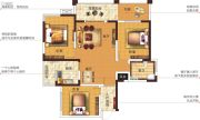 塞纳国际4室2厅1卫106平方米户型图