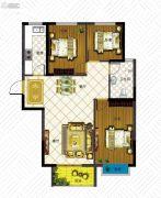 澳城苑库克船长3室2厅1卫97平方米户型图